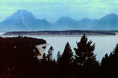 Grand Tetons 08-1992 1 (David441491) Tags: lake mountains landscape slide grandtetonnationalpark