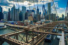 Manhattan from the Brooklyn Bridge (Arutemu) Tags: a7r america brooklynbridge ilce ilcea7r manhattan ny nyc newyork sigma sigmasuperwideii24mmf28 sony us usa unitedstates city fullframe manualfocus mirrorless summer urban wideangle 24mm downtownmanhattan