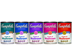 cream of (magic) mushroom (brescia, italy) (bloodybee) Tags: 365project campbells soup andywarhol popart tin can logo brand cream magic mushroom food eat cook stilllife rainbow white