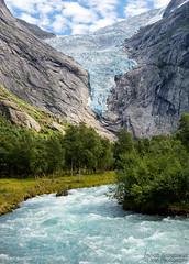 The glacier (johanbe) Tags: briksdalsbreen glacier glacir river flod water vatten ice is summer mountain fjll norway norge tree photooftheday iamnikon iamnikonsummer nikon nikkor