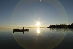 Evening fishing (Camusi) Tags: northwestterritories northof60 nord nwt north territoiresdunordouest tno canada summer t august aout behchoko marianlake russelllake canoecamping canotcamping island ile eau water canoe milkywater eaulaiteuse bleu blue