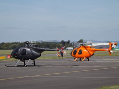 G-CODA With N500SY Two MD500S Helicopters (Aircaft @ Gloucestershire Airport By James) Tags: gloucestershire airport gcoda n500sy md500 helicopters egbj james lloyds