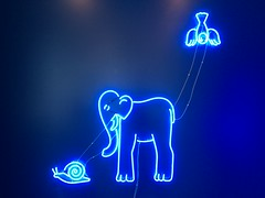 ELEPHANT NEON (rpiker101) Tags: australia nsw installation neon art light sydney