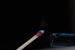 (mikeyb.0101) Tags: macro match light fire smoke burwellschoolofphotography edmonton alberta canada