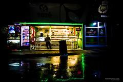 shopping before dawn (Ivan Peki - www.ivanpekic.com) Tags: shop city reflection rain dark nigh lonely neon belgrade