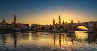 Atardece en Zaragoza