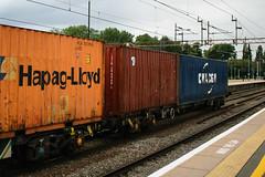 608387 Northampton 040816 (Dan86401) Tags: 608387 608 fsa freightliner fl outer intermodal modal containerflat wagon freight northampton wcml 4o17 cmacgm