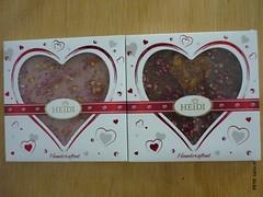 Heidi Gourmet Heart (zazou.ciocolata) Tags: heidi romania milkchocolate whitechocolate chocolatefigure valentinesday 2529cocoa 3034cocoa raspberry fruit almond nut cranberry caramelizednut