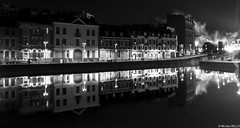 Lille - Quai du Wault France (belzebello) Tags: sky landscape monochrome street noiretblanc luminosite luminosity cloud nord lumiere france night beautiful paysage bw blackandwhite architecture amazing light urban leica
