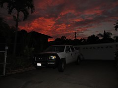 driveway sunrise (BarryFackler) Tags: captaincookhawaii sunrise sunup cloudy clouds hawaii dawn kona driveway garage polynesia outdoor southkona pickuptruck palmtree hondaridgeline captaincookhi truck bigisland home vehicle cookslanding westhawaii utilitylines silhouette daybreak hawaiiisland barronfackler barryfackler 2016 scene nature island hawaiicounty sandwichislands morning tropical hawaiianislands