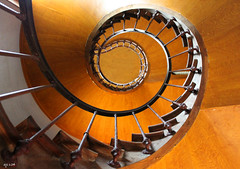 Upward Spiral (Dave Snowdon (Wipeout Dave)) Tags: france building architecture spiral staircase chateau indreetloire châteaudazaylerideau wipeoutdave canoneos1100d davidsnowdonphotography djs2014