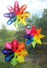 Trio Of Rainbow Window Stars