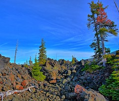 Life Springs Eternal (Kirt Edblom) Tags: trees panorama mountains tree oregon centraloregon landscape volcano lava nikon highway rocks pass scenic cascades threesisters wife wilderness hdr moonscape threesisterswilderness scenicbyway santiampass scenicdrive lavaflows oregoncascades mckenziepass mtjeffersonwilderness gaylene easyhdr mtwashingtonwilderness highcascades highway242 volcanicpeaks willamettenationalforrest nikond7100 panoramamaker6