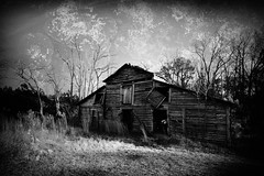 Near the End (helixsonjr) Tags: blackandwhite barn landscape northcarolina kodalith alienskin exposure7 tokina1116