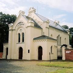 Flexaret 3a - Brno Synagogue 1 (Kojotisko) Tags: brno cc creativecommons vintagecamera czechrepublic flexaret kodakportra kodakportra160 flexaret3a