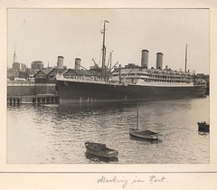 'Meeting in Port' - RAHS/Osborne Collection c. 1930s (Royal Australian Historical Society) Tags: water port ship sydney rahs royalaustralianhistoricalsociety