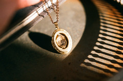 Black Magic (inmost_light) Tags: film analog necklace magick crystal handmade magic analogue etsy quartz magical locket herkimerdiamond