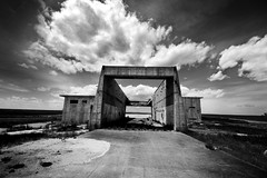 Relic (Sean Papile) Tags: blackandwhite white black abandoned clouds lens force angle air wide sigma silo warren missile wyoming 1020 ultrawide base abandonment icbm t3i
