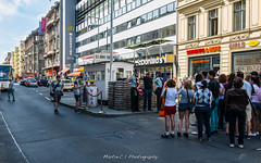 Checkpoint Charlie (Martin.C_ZJU) Tags: street travel vacation berlin germany nikon europe tourists historical lonelyplanet   worldwar checkpointcharlie  checkpoint         d800e