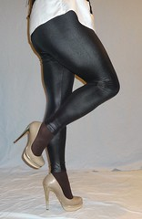 5 (read my Profile before anything!!!!!) Tags: nude gold high buffalo highheels plateau heels heel corsage leggings
