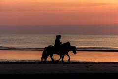 IMG_4747 (Leif Hinrichsen) Tags: sunset summer beach strand denmark island sonnenuntergang sommer insel northsea dänemark danmark nordsee abendhimmel sandstrand rømø röm nordseeinsel