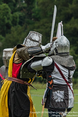 To the Face! (Proper Job Productions) Tags: berkeley fight knights conflict knight swords armour nations skirmish recreationist berkeleyskirmish conflictofnations