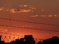 Por do Sol no Aeroclube (Victor A. Vieira) Tags: sunset sol lumix do panasonic cerca bauru arame farpado pôr aeroclube fz35