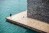 < me voy < (GMH) Tags: france port puerto persona mar marseille arquitectura edificio minimal diagonal soledad construcción francia solitario mediterráneo marsella composición solitaria mucem ltytr2 ltytr1