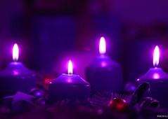 4. Advent (Silandi) Tags: christmas light red star december advent candle purple candy adventwreath 2014 adventseason renateeichert resilu