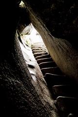 dentro de la piedra (torralma) Tags: travel rock stone stair per inside cave machupicchu caving odyssey