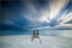 ethereal concepts (Maciek Gornisiewicz) Tags: longexposure morning seascape west beach clouds canon landscape photography dawn bay coast sand jetty south tripod australia filter shore western dunsborough maciek 2014 1635mm darkelf quindalup geographe gornisiewicz 5diii littlestopper etherealconcepts
