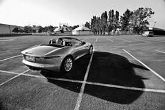 Fifty Shades of Grey (2KP) Tags: auto bw white black france cars car marine bordeaux s f type jaguar autos base v6 cabriolet sous aquitaine gironde 2013 ftype