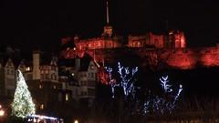 Christmas in Edinburgh (byronv2) Tags: christmas trees winter building history architecture night festive scotland edinburgh edinburghcastle nacht decoration christmastree christmasdecoration chateau mound schloss fortress nuit edimbourg ramsaygardens edinburghbynight