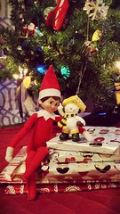 Okay, Maybe it's beginning to look a little like Christmas... (Holly The Elf) Tags: santa christmas winter snow tree snowman surfing holly shelf packers elf presents greenbay cheesehead