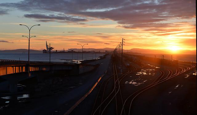 Roberts Bank at sunset 2014