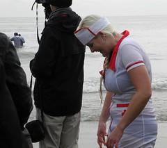 Boxing Day Dip 2014 (naturesam9) Tags: uk england wet kent sunny nurse sands folkestone 2014 boxingdaydip