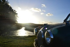 Austin A35 on North York Moors (NealJWelch) Tags: door york 2 england green classic car austin countryside driving yorkshire north moors moor saloon a35 a2s5