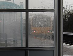 Train and rain (Dai Lygad) Tags: train rain station ninianpark cardiff wales nikoncoolpixs9500 window raindrops weather water glass wet atmospheric class143 pacer atw arriva arrivatrains arrivatrainswales dmu tren winter uk trainthroughthewindow throughthewindow rail railway shelter winterphoto winterphotography 火车 huǒchē поезд poyezd glaw rheilffordd caerdydd corrió побежал pobezhal 走った hashitta platform britain grey raindrop frame travel transport photo image december photography picture jeremysegrott dailygad flickr vehicle railroad railways railroads lestrains lescheminsdefer wasser photograph cymru paysdegalles paísdegales eisenbahn chemindefer ferrocarril walesuk