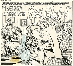 I Joined a Teen-Age Sex Club! (Tom Simpson) Tags: sex illustration vintage comics kiss kissing comicbook teenager teenage sexclub bobpowell