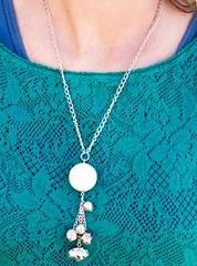 5th Avenue White Necklace K2 P2620-5