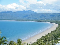 Port Douglas Beachview (zayzayem) Tags: ocean blue sea beach palms lookout tropical fujifilm portdouglas trinitybay farnorthqueensland s2000hd