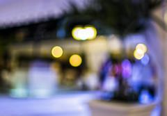 Blur photography: Uno mas tequila? (Ulejko) Tags: travel blue light mist blur colour art colors night 35mm outside happy evening la nikon colours dof bokeh nikkor depth bokehlicious d7100