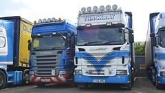 SF59 GVU & YJ12 AMU (panmanstan) Tags: truck wagon yorkshire transport lorry commercial vehicle freight scania hayton haulage r560 r620