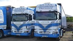 RG62 EAT & YN15 LWR (panmanstan) Tags: truck wagon yorkshire transport lorry commercial vehicle freight scania hayton haulage r560 r580