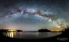 Milky Way at Split Rock (Greg Lundgren Photography) Tags: statepark panorama lighthouse lake night island astro greatlakes northshore duluth lakesuperior milkyway splitrock greglundgren onlyinmn ellingtonisland exploremn
