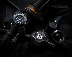 Helson 2000m Shark Diver (Fly to Water) Tags: blue sport photography shark 2000 time release watch dive deep scuba diving professional timepiece helium valve saturation diver meter piece product hrd helson 2000m