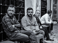 Street 119 (`ARroWCoLT) Tags: street people man bus adam monochrome face bench photography blackwhite market outdoor samsung istanbul sidewalk stop rest bazaar streetseller ay simit sokak grandbazaar mercan nx eminn pazar siyahbeyaz midage kapalar sultanhamam semaver nxm nx300 arrowcolt