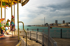 Brighton (10) (johnlawson367) Tags: brighton britain carousel england funfair palacepier pier ruins seascape sussex uk westpier amusements beach coast i360 sea