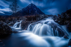 Buachaille Etive Mor (devlin11) Tags: colour landscape scotland waterfall highlands scenery rocks long exposure glencoe tranquil mystic buachaille etive