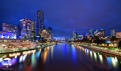 Melbourne Yarra River (kenneth chin) Tags: city yahoo google nikon cityscape sigma australia melbourne fisheye bluehour eurekatower twillight yarrariver digitalblending d810